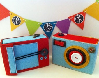 THE ECO BOXY Felt Camera Case- Made by order