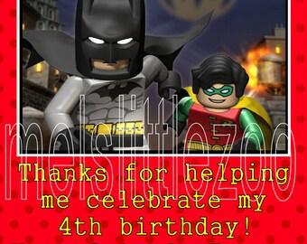 Lego Batman Spiderman Superhero Digital Party Favor Tag