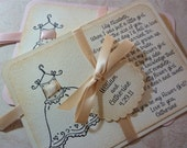 Will you be my flower girl invitation personalized card vintage wedding