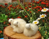 Tiny White wool sheep - 1 pcs, waldorf toys. stufed toys. farm animal toys for playscape
