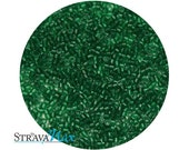 DB-0776 11/0 Miyuki Delica Seed Beads - emerald green seed beads - transparent matte dyed beads - round cylinder seed beads