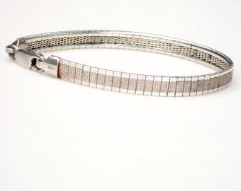 Vintage Modern Sterling Mesh Silver Bracelet--Italy