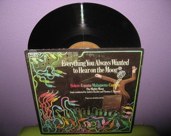 SHOP CLOSING SALE Vinyl Record Album Everything You Always Wanted to Hear on the Moog... Lp 1970s Classical Synth