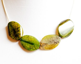 Green Fire Agate Necklace
