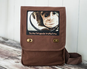 Monkey - CUSTOMIZE - Field Bag - School Bag - Java Brown - Canvas Bag - Messenger Bag