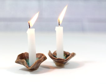 Shabbat candlestick Ceramic flowers Candle holders Candlestick holders Bat Mitzvah gift Made in Israel
