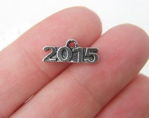 12 2015 charms antique silver tone
