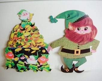 St Patrick's Day Decoration Pot Of Gold and Leprechaun by Eureka