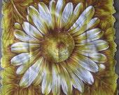 NEW HANKIE Sunflower made in Japan fine cotton VINTAGE