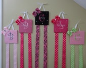 Bow holders embroidered, custom made, personalized