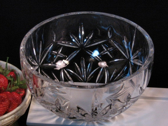 Vintage Tiffany Amp Co Crystal Bowl Sybil Pattern Enterprise Car