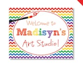 Art Party - Personalized DIY printable sign