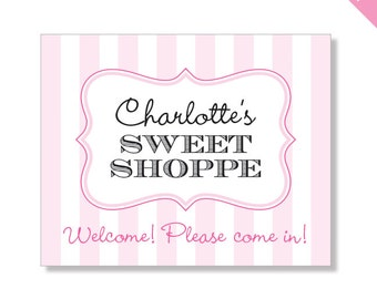 Sweet Shoppe Party - Personalized DIY printable sign
