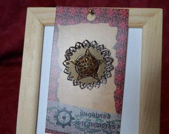 Lone Star Brass Brooch or Cravat Pin