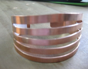 Copper Hand Forged Cuff Bracelet