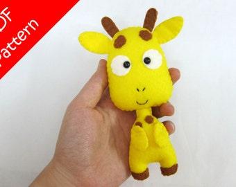 Giraffe Plush PDF Pattern -Instant Digital Download
