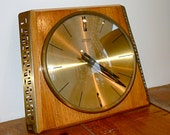 Vintage West German Mid Century Wall Clock