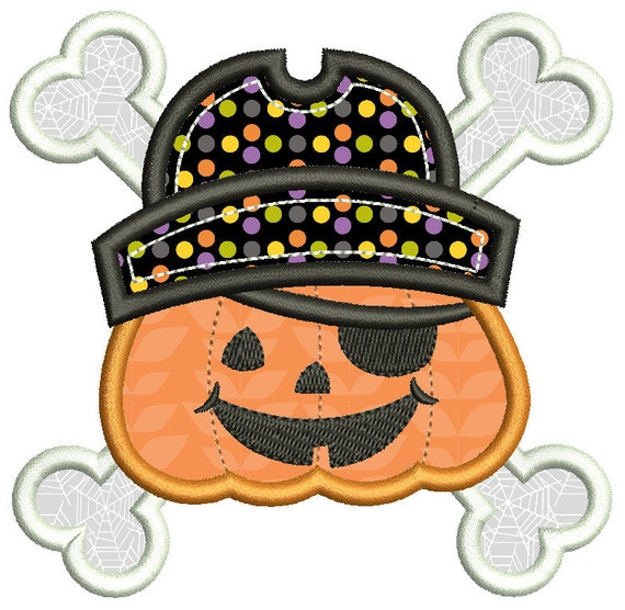 Halloween applique embroidery design cute jack o by