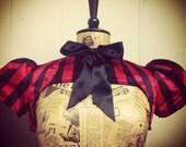 Striped bow bolero with puff sleeve. Choice of colour