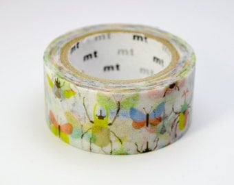 Discontinued-Limited Edition mt Japanese Washi Masking Tape Vol.1 - Colorful Insects 20mm wide