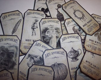Bath Steampunk  Apothecary Labels Set of 15