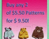 Buy Any 2 Patterns Priced USD5.50 for only USD9.50