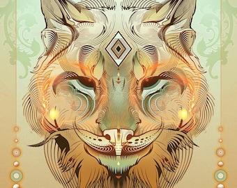 Lynx Artemisia -paper print - 11x17