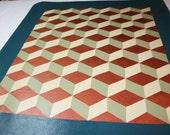 Cube floor cloth