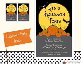Custom Halloween Pumpkin Patch Party Invitation Printable