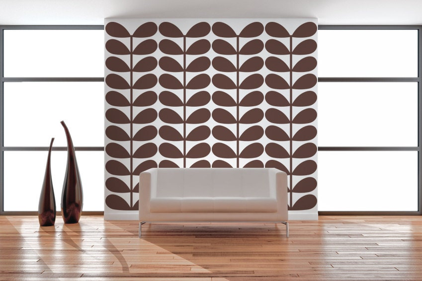Modern Vintage Wall Decor : Retro wall decor mid century modern decal by