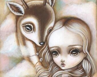 8x10 Fine Art Print--Deer Spirit