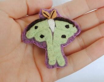 Luna Moth Hair Clip