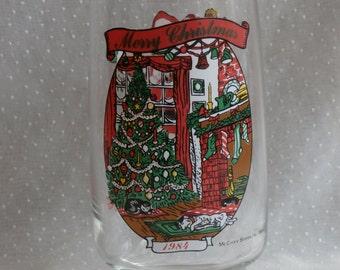 1984 McCrory Stores Coca Cola Santa Christmas Tumbler