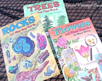 TREES, ROCKS, and FLOWERS Vintage Books about Nature 1961