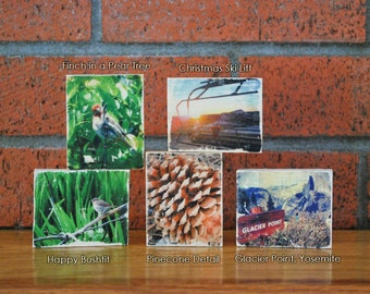 Mini Distressed Photo Transfer on Wood - Your Choice of Individual or Set of 3