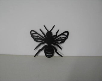 Honey Bee Ch 001 Small Metal Wall Yard Art Silhouette