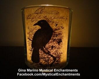 Halloween Nevermore Raven votive-tea light holder