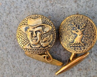 Antique Cowboy Cuff Links Deer Cuff Links Western Accessories