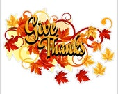 Give Thanks Static Cling Thanksgiving Window Decals Removable and Reusable Thanksgiving Clings