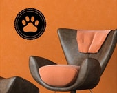 Cat Paw Print Decal Cat Wall Sticker Removable Pet Wall Art