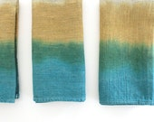 Set of 4 – Linen Napkin in Ocean and Ginger