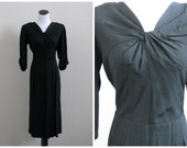 Vintage 1950's Sensibly Young Fashions dress / 50's lbd / fifties black cocktail party special occasion / 33 waist