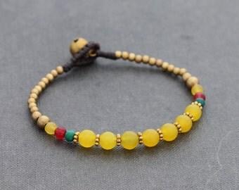 Lemon Jade Petite Oriental Bracelet