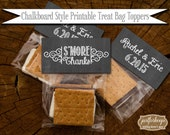 S'More Favor Tags Chalkboard PRINTABLE PDF JPEG Bag Toppers Rustic Shabby Chic Woodland