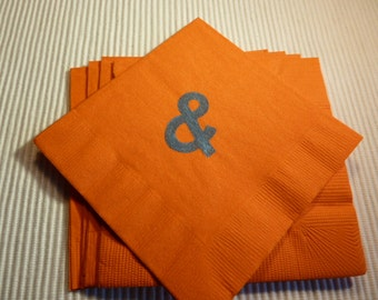 "Orange and Blue  "" & "" Sign Paper Cocktail/ Lunch/ Dinner Napkins"