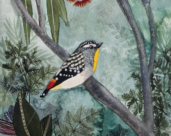 Spotted Pardalotes Art Print 8x10