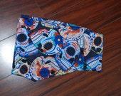 Day of the Dead print shorts with WIDE waistband size small
