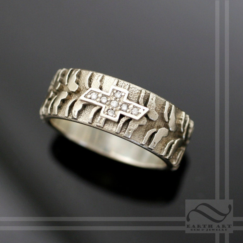 14k chevy tire tread ring by mooredesign13 on etsy