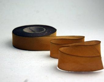 "Hand Dyed Silk Ribbon 15mm 5/8"" Golden/Gold Blend 052 - 3 yards Bias Cut"