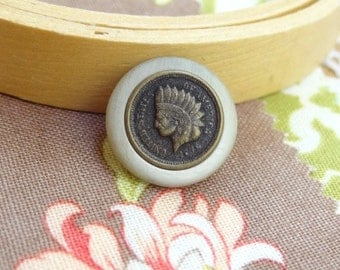 12 Copper Metal Shank Button. Native American Buttons.  1/2 inch. 15 mm Destash BTTN28